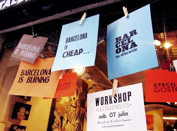 Atelier à l'Envers - atelier typographie