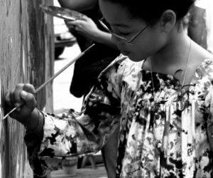 Atelier fresque avec Melting Paint pour projet Futura