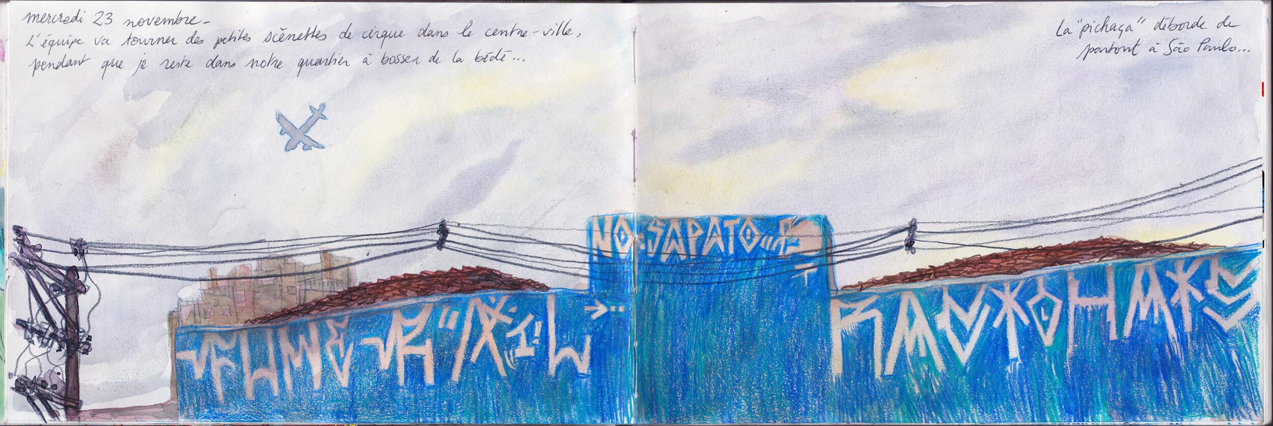 Carnet de voyage au Brésil par Piero