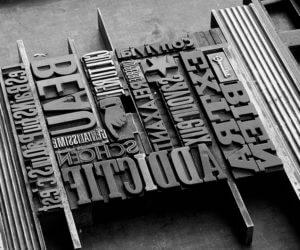 Atelier à l'Envers, atelier typo pour projet Futura